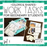 Work Tasks for Secondary Students {Colors & Shapes}