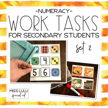 Work Tasks for Secondary Students: Set 2 {Numeracy}