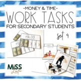 Work Tasks for Secondary Students {Time & Money}