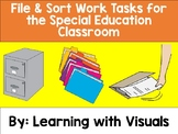 Work Tasks for the Special Education Classroom