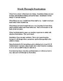 Work Through Frustration Social Story_ Upper Elementary -