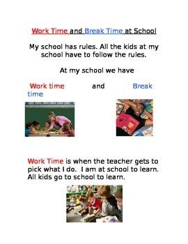 Work Time vs. Break Time Social Story