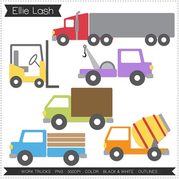 Work Trucks Clipart