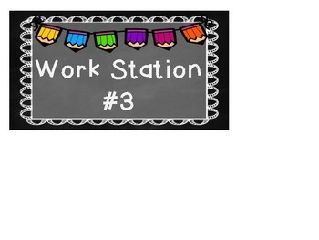 Work Tub or Work Station Labels- Fully Editable