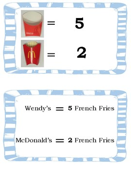 Work / Vocational Task: French Fry Count and Descrimination