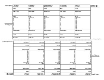image about Planner Printable known as Exertion 7 days Planner Printable