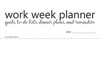 Work Week Planner Printable
