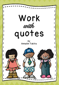 Work With Quotes - ORAL EXERCISES