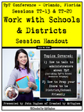 Work With Schools And Districts Handout - TpT Conference 2016