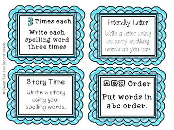 Work With Words Spelling Task Cards