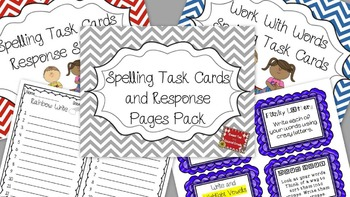Work With Words Spelling Task Cards and Response Sheets Bundle