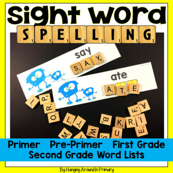 Work Word Centers for Sight Words with Scrabble Tiles - BUNDLE