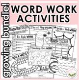 Word Work Activities Growing Bundle (36)