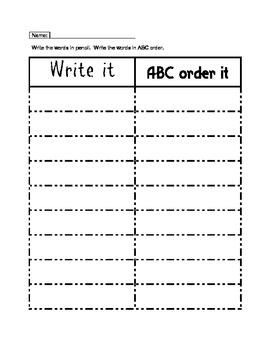 Work Work Center Recording Sheets