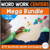 Word Work Center Activities Year Long Bundle