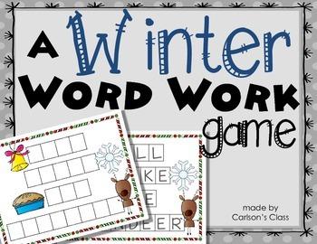 Winter Work Work Game: Build a Word