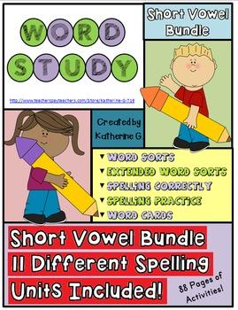 Word Study Short Vowels Bundle
