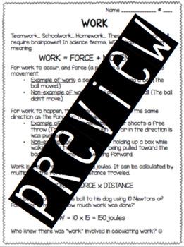 Work Worksheet
