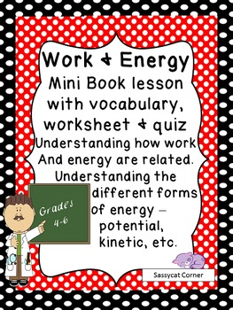 Work and Energy - Minibook and worksheet set
