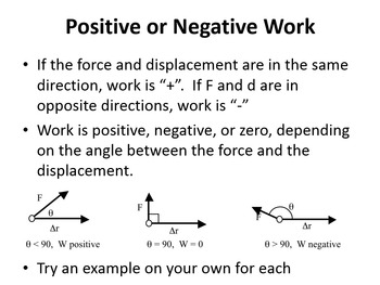 Work and Force - A Physics PowerPoint Lesson & Note