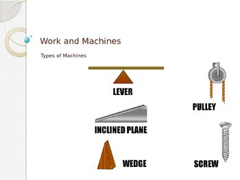 Work and Power - Types of Machines