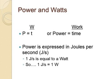 Work and Power Unit