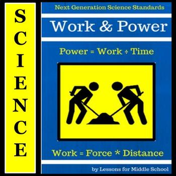 Energy -Work and Power Unit for Middle School Science, NGSS Aligned