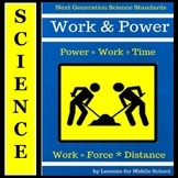 Energy - Work and Power Unit for Middle School Science, NGSS Aligned