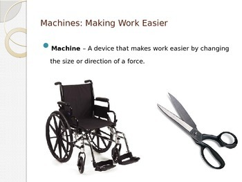 Work and Power - What is a Machine