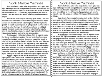 Simple Machines Reading Comprehension Interactive Notebook