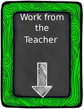 Work from the Teacher Chalkboard Sign