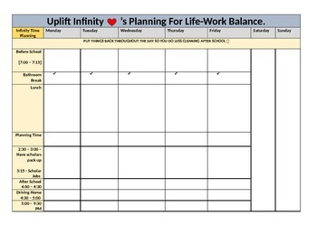 Work-life Balance Template