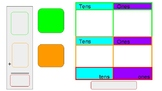 Work mat for adding two 2-digit numbers (without regrouping)