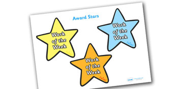 Work of the Week Award Star