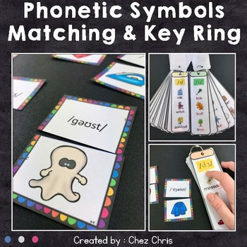 Sounds of English Phonetic Key Ring and Matching Activity