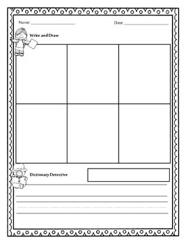 Work on Words Activity Worksheet