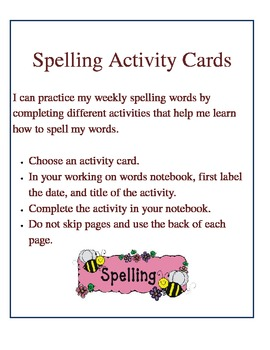 Work on Words Center Choices