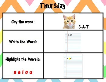 Work on Words Weekly Flip Chart for Any Words