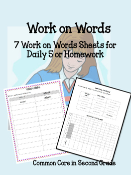 Work on Words- Word Work- Spelling Word Practice