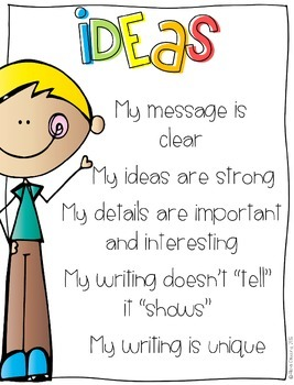 Work on Writing: 6 +1 Writing Traits Poster Pack