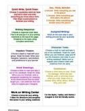 Work on Writing Activities