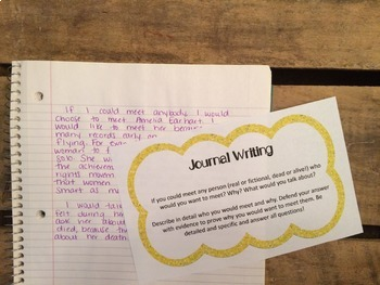 Work on Writing - Task Cards