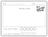 Work on Writing - All About Fall FREEBIE