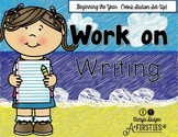 Work on Writing {Beginning the Year Set Up}