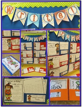 Work on Writing (Center Choices and Student Folders) Back to School Theme