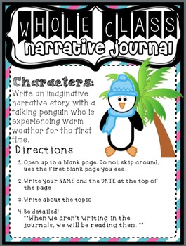Work on Writing Center: Upper Elementary Narrative Writing (Winter-Themed)