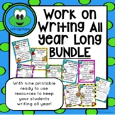 Work on Writing Centers All Year Long BUNDLE
