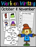 Work on Writing For October and November - Writing Center
