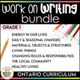 Work on Writing - Grade 1 Ontario Curriculum Bundle