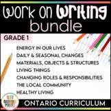 Work on Writing - Grade 1 Ontario Curriculum Bundle